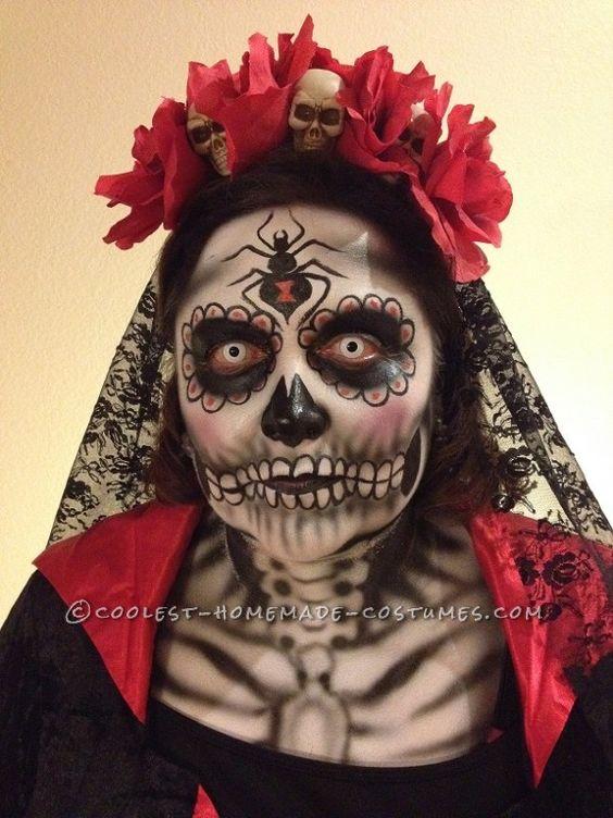 halloween, costumes, homemade, DIY, Dia De Los Muertos (Day of the Dead)